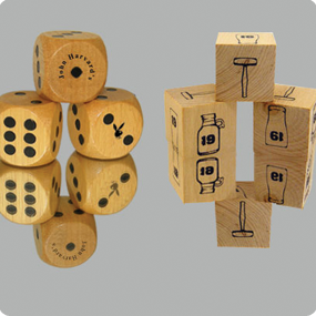 custom wooden dice